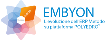 Embyon è l'evoluzione dell'ERP Metodo su piattaforma Polyedro, progettato come soluzione modulare per gestire ed aiutare le PMI a ottimizzare le procedure relative all'organizzazione dei processi aziendali.